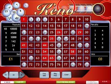 Casino games keno vineyard casino chips